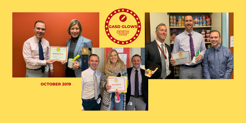 Congratulations to our GASD Glows recipients for October 2019