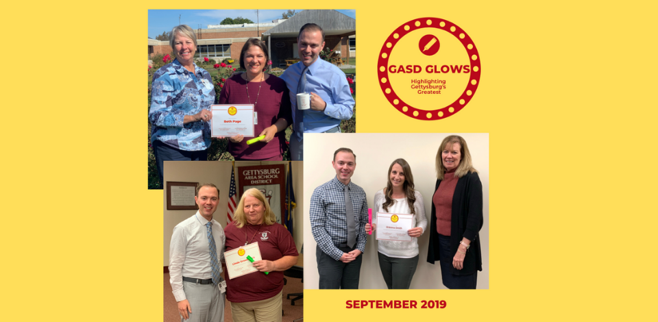 Congratulations to our September 2019 GASD Glows recipients