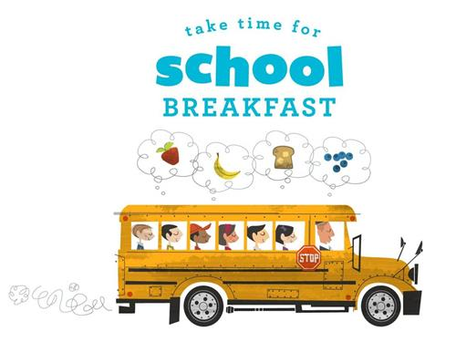 School Breakfast Bus